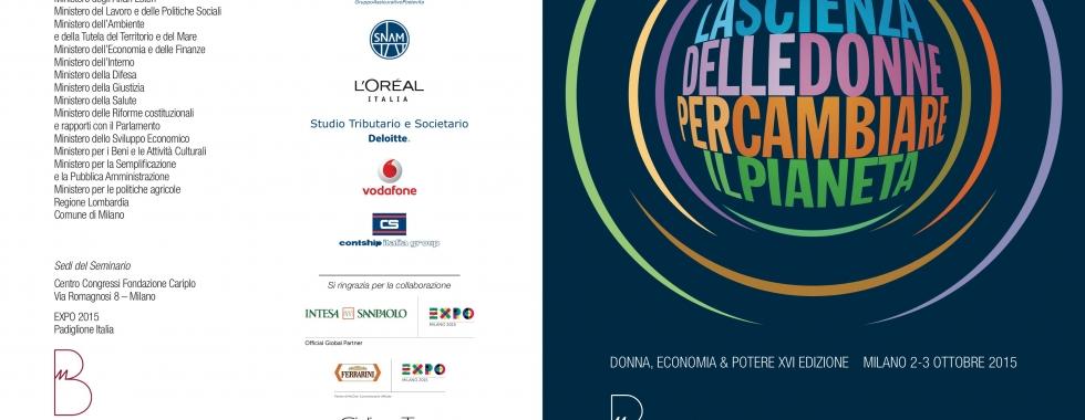 Donna Economia & Potere 2015 – Milano 2-3 Ottobre