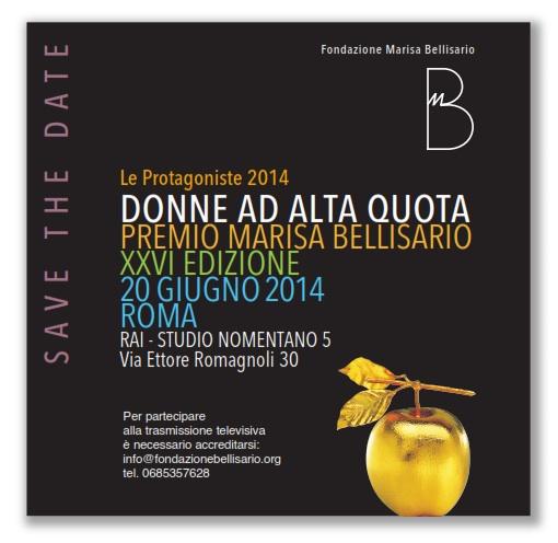 Save the Date Premio Bellisario 2014