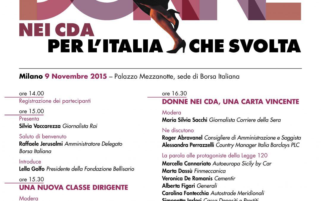 La Forza delle Donne nei CDA per l'Italia che svolta