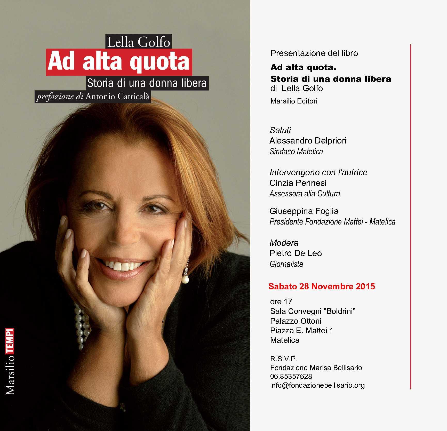 """Presentazione Libro """"Ad Alta Quota"""" – Matelica 28 Novembre 2015"""