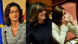 FORZA ITALIA PORTA ALLA PRESIDENZA TRE DONNE. QUESTIONE DI QUOTE? ANCHE