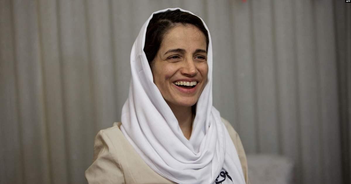 DONNE. DOMENICA FONDAZIONE BELLISARIO DAVANTI ALL'AMBASCIATA IRAN PER NASRIN